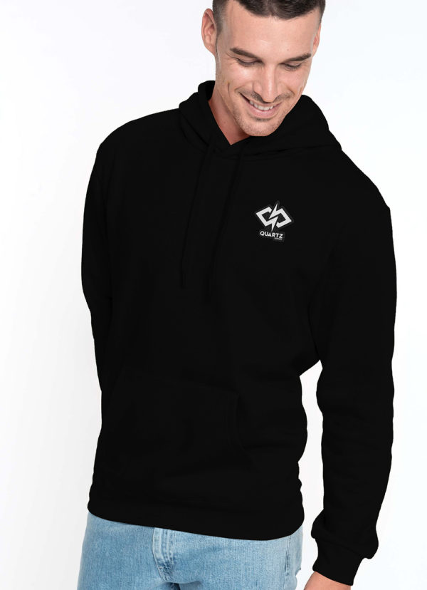 Sweat capuche homme Quartz Esport noir