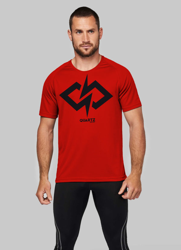 Tshirt sport homme Quartz Esport rouge Big Blaz