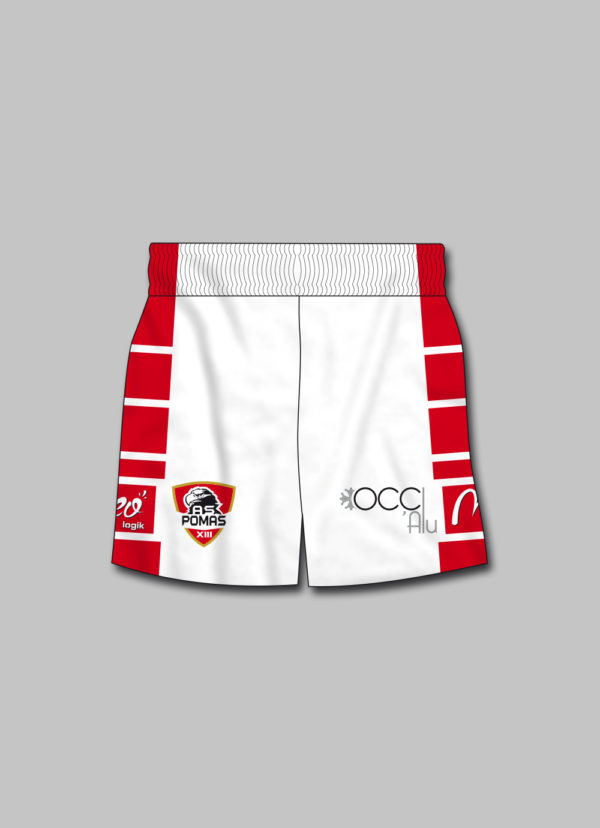 Short rugby AS Pomas XIII 2019-2020 face