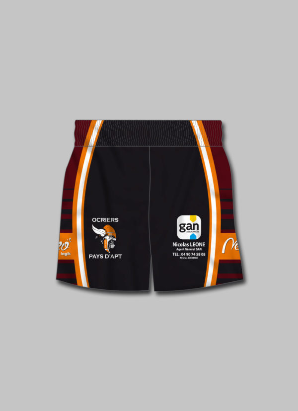 Short rugby Ocriers Pays Apt 2018 2019 dos
