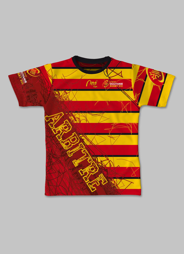 Maillot Multi-sports Ligue Occitanie Rugby XIII 2017-2018 face