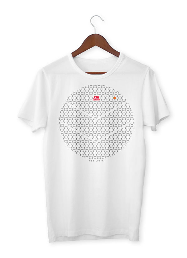 Tshirt homme XIII Catalan blanc Working Bees